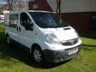 Vauxhall Vivaro 2.0 Unclassified Combi Van Diesel WhiteVauxhall Vivaro 2.0 Unclassified Combi Van Diesel White at Chequered Flag GB LTD Leeds