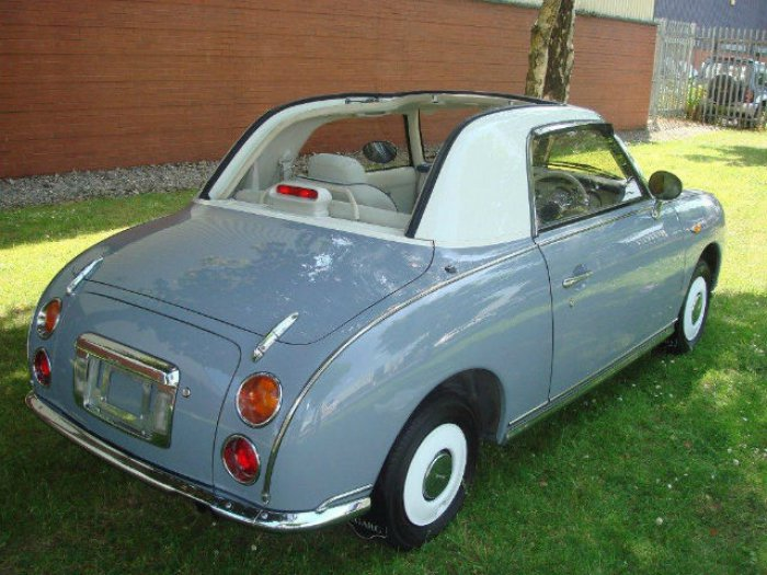 Nissan Figaro 1.0 Turbo Convertible Petrol Duck Egg Blue
